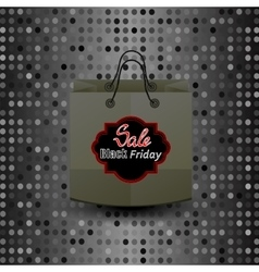 Shopping Paper Bag with Black Friday Sticker vector image vector image