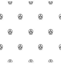 Skull small elegant seamless pattern vector
