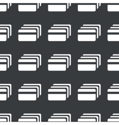 Straight black credit card pattern vector