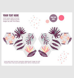 Template design brochure abstract background vector