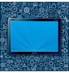 Touchpad Concept vector image vector image