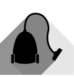 Vacuum cleaner sign black icon with two vector