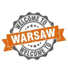 warsaw round ribbon seal vector image vector image