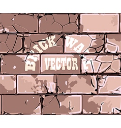 Old brick wall retro vector