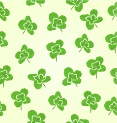 Seamless texture leaf clovers symbol of good luck vector