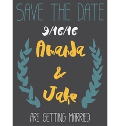 Wedding save the date invitation card vector