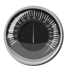 Automobile speedometer icon gray monochrome style vector
