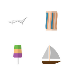 flat season set of sundae yacht wiper and other vector image