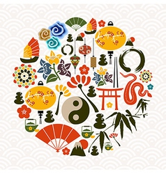 Chinese New Year of the Snake circle vector image