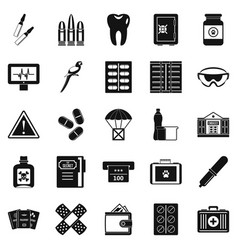 Cause icons set simple style vector