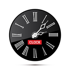 Retro black abstract alarm clock isolated on white vector
