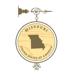 Vintage label missouri vector