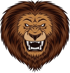 Angry lion vector