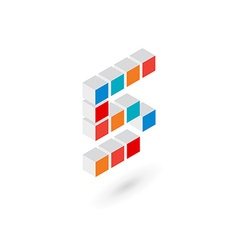 3d cube number 5 logo icon design template vector
