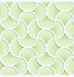 3d green wavy striped pin will grid vector