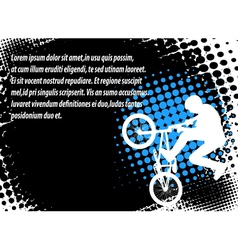 Bmx halftone background vector