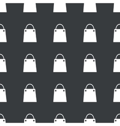 Straight black shopping bag pattern vector