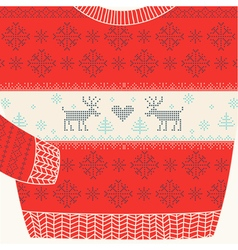Christmas Ornamental Sweater - Ugly Party Sweater vector image