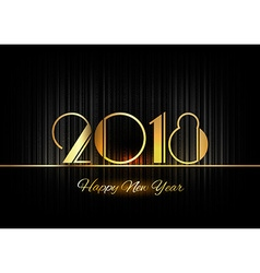 Gold new year 2018 luxury symbol vector
