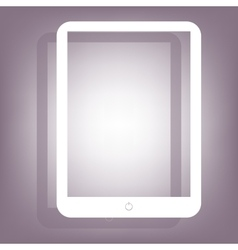 Computer tablet icon vector