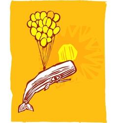 Whale Balloon vector image