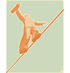 Rope-walker vector image