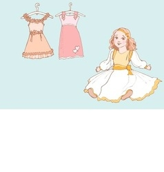 Baby girl dress 1 color vector