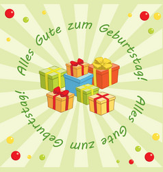 Background - alles gute zum geburtstag vector