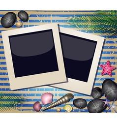 Beach Styled Polaroid Background vector image