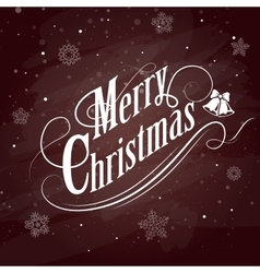 Christmas Typographical on red Background vector image vector image