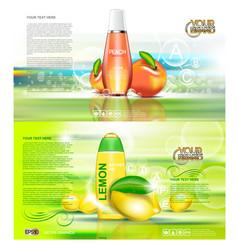 digital red and orange shower gel vector image vector image