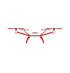 Drone quadrocopters helicopter isolated on white vector image