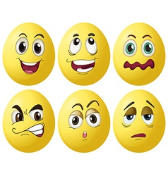 Egg expressions vector image vector image