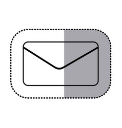 figure e-mail message icon vector image vector image