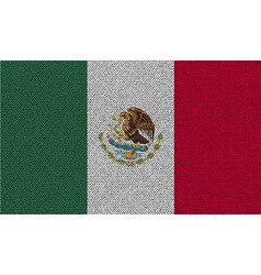 Flags Mexico on denim texture vector image vector image