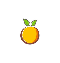 Fruit organic fresh logo vector