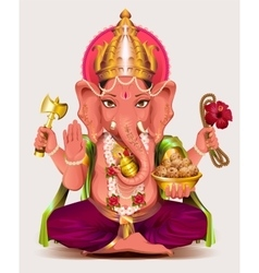 Ganesha Indian god of wisdom and wealth vector image