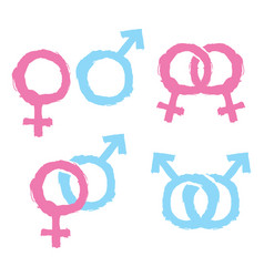 gender icons vector image