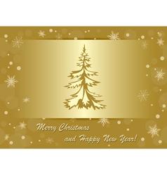 golden background - merry christmas vector image