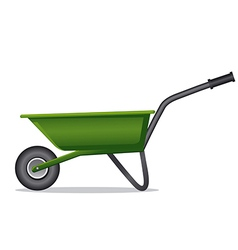 green wheelbarrow vector image
