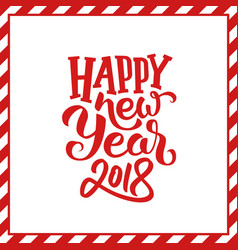 Happy new year 2018 typogrpahy background vector