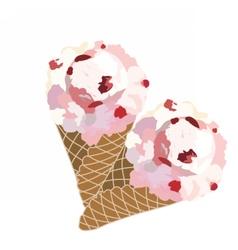 Ice cream waffle cones vector