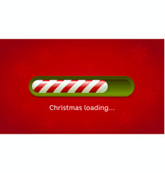 loading christmas red and green web bar on dark vector image