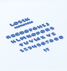 losik isometric font vector image vector image