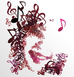 Man Enjoy Music Melody for Life 01 vector image