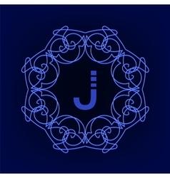 Monogram j vector