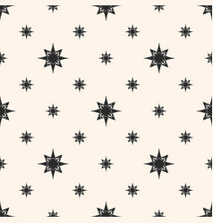 ornament geometric seamless pattern with stars vector image vector image