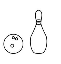 Pin and bowling ball black color icon vector