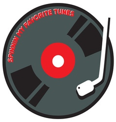 Record Spinning Tunes vector image vector image