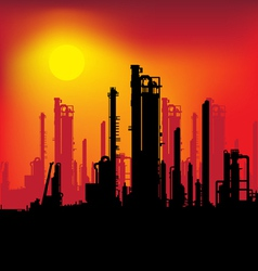 refinery plant vector image vector image